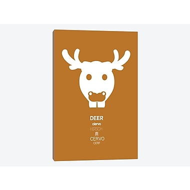 East Urban Home 'Multilingual Moose' Graphic Art Print on Canvas; 40'' H x 26'' W x 1.5'' D