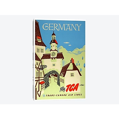 East Urban Home 'Germany - Fly TCA, Trans-Canada Air Lines' Vintage Advertisement on Canvas