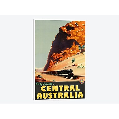East Urban Home 'Go By Train To Central Australia' Vintage Advertisement on Canvas