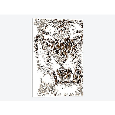 East Urban Home 'Tiger' Graphic Art Print on Canvas; 12'' H x 8'' W x 0.75'' D