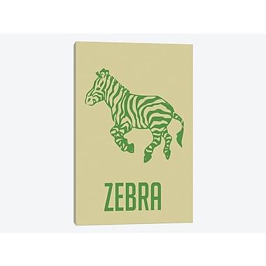 East Urban Home 'Zebra I' Graphic Art Print on Canvas; 40'' H x 26'' W x 1.5'' D