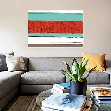 East Urban Home 'Aquatic Breeze III' Painting Print on Canvas; 8'' H x 12'' W x 0.75'' D
