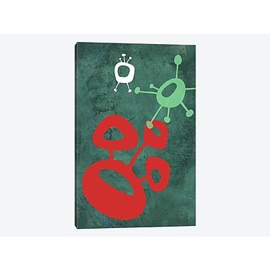 East Urban Home 'Abstract Splash Theme II' Graphic Art Print on Canvas; 26'' H x 18'' W x 1.5'' D
