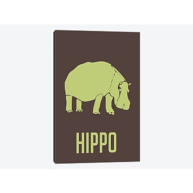 East Urban Home 'Hippo I' Graphic Art Print on Canvas; 12'' H x 8'' W x 0.75'' D