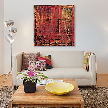 East Urban Home 'Selma' Painting Print on Canvas; 37'' H x 37'' W x 0.75'' D