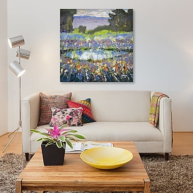 East Urban Home 'Foothills Pond' Painting Print on Canvas; 12'' H x 12'' W x 1.5'' D