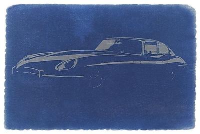 East Urban Home 'Jaguar E-Type (XK-E)' Graphic Art Print on Canvas; 8'' H x 12'' W x 0.75'' D