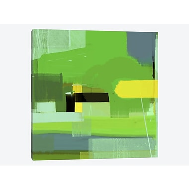 East Urban Home 'Green Abstract VI' Painting Print on Canvas; 18'' H x 18'' W x 0.75'' D
