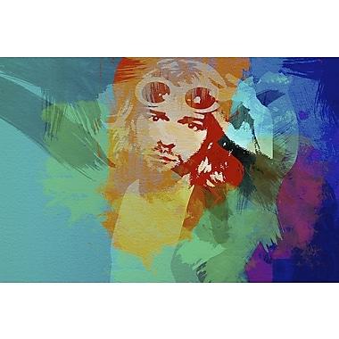 East Urban Home 'Kurt Cobain' Graphic Art Print on Canvas; 40'' H x 60'' W x 1.5'' D