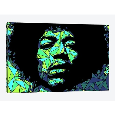 East Urban Home 'Jimi Hendrix II' Graphic Art Print on Canvas; 26'' H x 40'' W x 0.75'' D