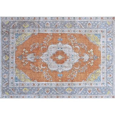 World Menagerie Andrew Hand-Knotted Rust Area Rug