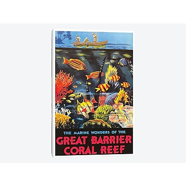 East Urban Home 'The Marine Wonders of the Great Barrier Coral Reef' Vintage Advertisement on Canvas