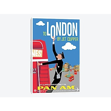East Urban Home 'To London By Jet Clipper - Pan Am' Vintage Advertisement on Canvas