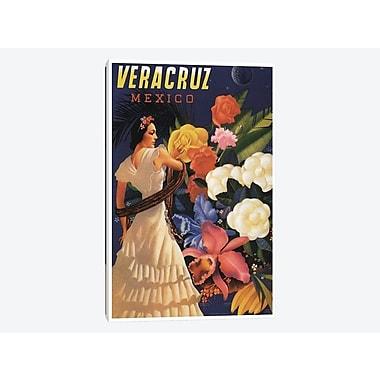 East Urban Home 'Veracruz, Mexico' Vintage Advertisement on Canvas; 18'' H x 12'' W x 0.75'' D