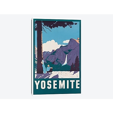 East Urban Home 'Yosemite National Park: Nature' Vintage Advertisement on Canvas