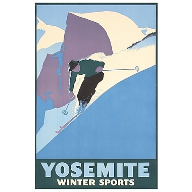 East Urban Home 'Yosemite National Park: Winter Sports' Vintage Advertisement on Canvas