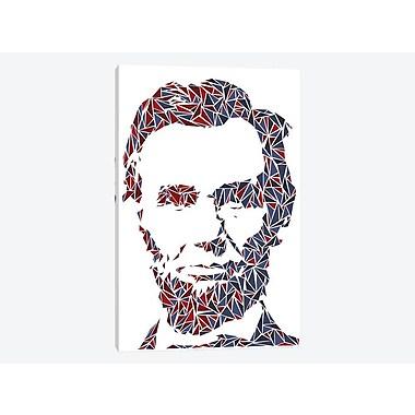 East Urban Home 'Abraham Lincoln' Graphic Art Print on Canvas; 60'' H x 40'' W x 1.5'' D