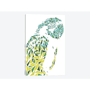 East Urban Home 'Ara Parrot' Graphic Art Print on Canvas; 26'' H x 18'' W x 0.75'' D