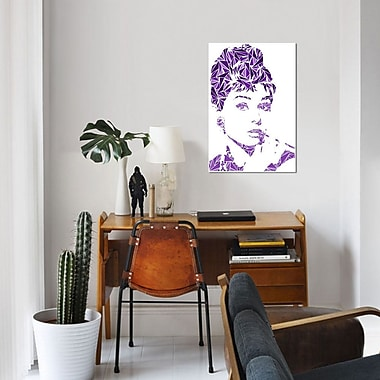 East Urban Home 'Audrey Hepburn' Graphic Art Print on Canvas; 26'' H x 18'' W x 0.75'' D