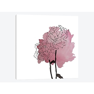 East Urban Home 'Peonies II' Painting Print on Canvas; 26'' H x 26'' W x 0.75'' D