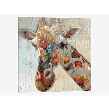 East Urban Home 'Paint Splash Giraffe' Graphic Art Print on Canvas; 12'' H x 12'' W x 0.75'' D