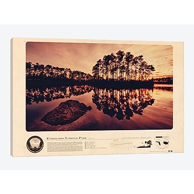 East Urban Home 'Everglades National Park' Graphic Art Print on Canvas; 18'' H x 26'' W x 1.5'' D