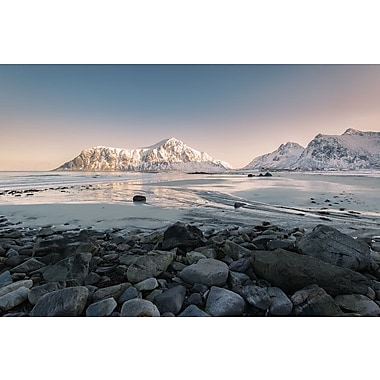 East Urban Home 'Flakstad Beach' Photographic Print on Canvas; 18'' H x 26'' W x 1.5'' D