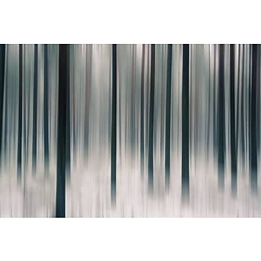 East Urban Home 'Forest in Motion' Painting Print on Canvas; 18'' H x 26'' W x 1.5'' D
