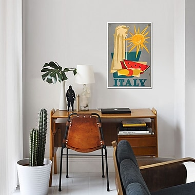 East Urban Home 'Italy III' Vintage Advertisement on Canvas; 12'' H x 8'' W x 0.75'' D