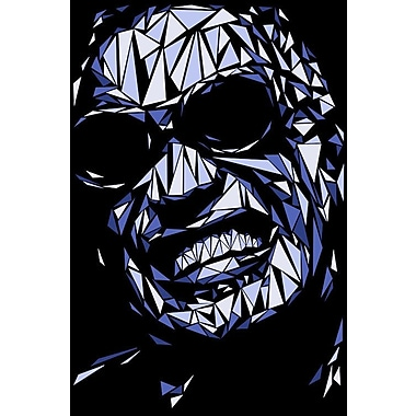 East Urban Home 'Ray Charles' Graphic Art Print on Canvas; 12'' H x 8'' W x 0.75'' D
