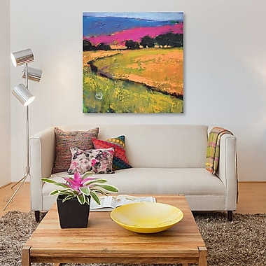 East Urban Home 'Summer Hills' Painting Print on Canvas; 18'' H x 18'' W x 0.75'' D