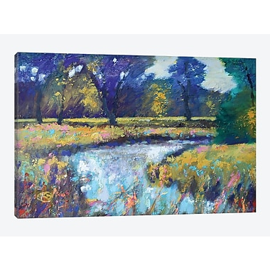 East Urban Home 'Summer Stream' Painting Print on Canvas; 18'' H x 26'' W x 1.5'' D