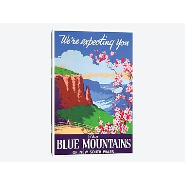 'The Blue Mountains of New South Wales: We're Expecting You' Vintage Advertisement on Canvas