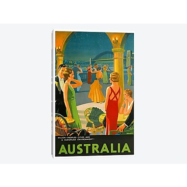 East Urban Home 'Australia III' Vintage Advertisement on Canvas; 18'' H x 12'' W x 0.75'' D
