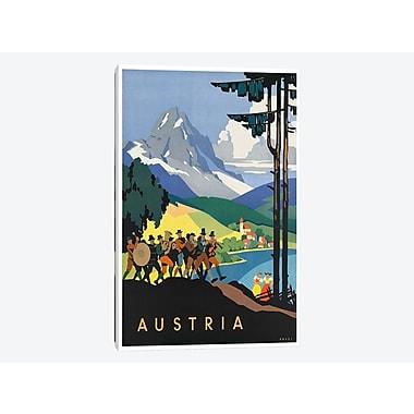 East Urban Home 'Austria: Music' Vintage Advertisement on Canvas; 26'' H x 18'' W x 1.5'' D