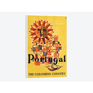 East Urban Home 'Portugal: the Colorful Country' Vintage Advertisement on Canvas