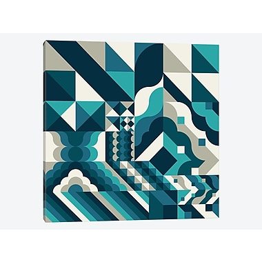 East Urban Home 'Wave' Graphic Art Print on Canvas; 12'' H x 12'' W x 1.5'' D