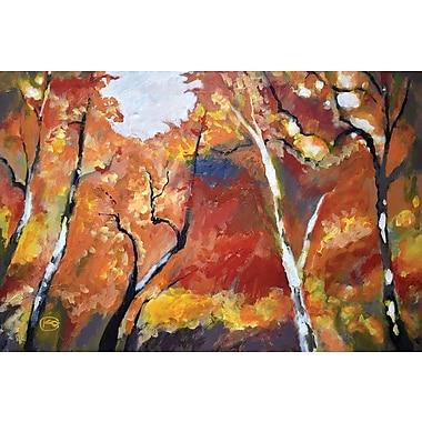 East Urban Home 'Autumn Woodland' Painting Print on Canvas; 26'' H x 40'' W x 1.5'' D
