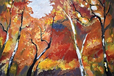 East Urban Home 'Autumn Woodland' Painting Print on Canvas; 18'' H x 26'' W x 1.5'' D