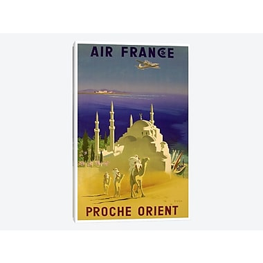 East Urban Home 'Air France - Proche Orient (Near East) II' Vintage Advertisement on Canvas