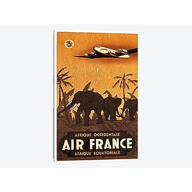 East Urban Home 'Air France Afrique Occidentale' Vintage Advertisement on Canvas