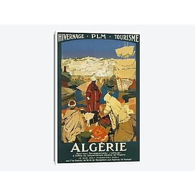 East Urban Home 'Algeria: Tourism' Vintage Advertisement on Canvas; 26'' H x 18'' W x 0.75'' D