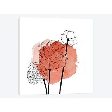 East Urban Home 'Ranunculus' Painting Print on Canvas; 12'' H x 12'' W x 1.5'' D