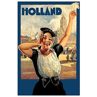 East Urban Home 'Holland I' Vintage Advertisement on Canvas; 40'' H x 26'' W x 0.75'' D