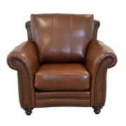 Westland and Birch Clinton Leather Club Chair; Brompton Deep Red