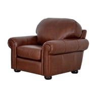 Westland and Birch Heath Leather Club Chair; Brompton Brown