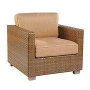 Woodard Sedona Lounge Chair; Sunbrella Bamboo Natural