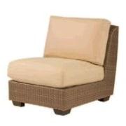 Woodard Saddleback Armless Chair w/ Cushions; Caladium