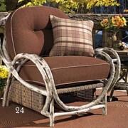 Woodard River Run Butterfly Lounge Chair; Sunbrella Bamboo Natural