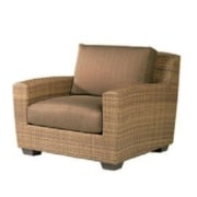 Woodard Saddleback Lounge Chair; Sunbrella Bamboo Natural